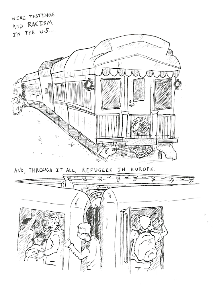 drawing connections  a train comic
