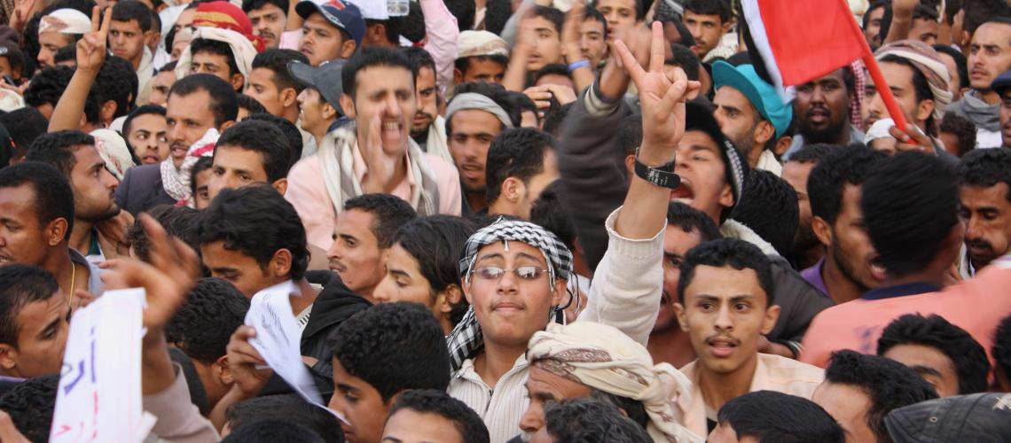 Yemenis protest at Change Square